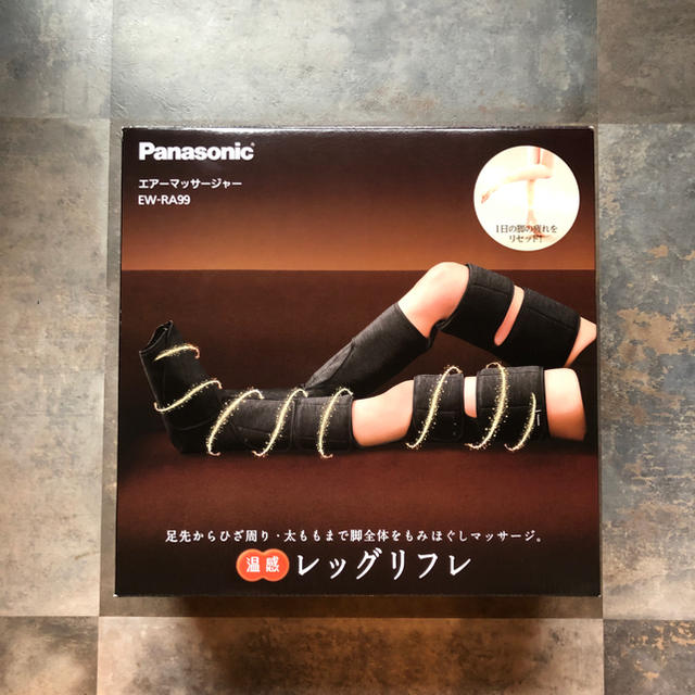 Panasonic(パナソニック)のPanasonic エアーマッサージャー レッグリフレ EW-RA99 スマホ/家電/カメラの美容/健康(マッサージ機)の商品写真