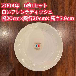 ヤマザキセイパン(山崎製パン)の2004年 ヤマザキ春のパン祭り 6枚1セット 白いフレンチディッシュ(食器)