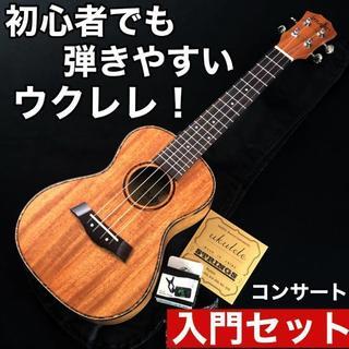 【プロ調整】Music製 マホガニー・コンサート・ウクレレ【入門セット】(その他)