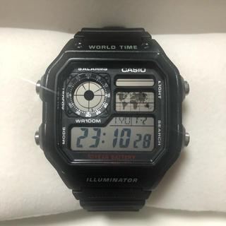 カシオ(CASIO)のWORLD TIME ワールドタイム CASIO メンズ腕時計(腕時計(デジタル))