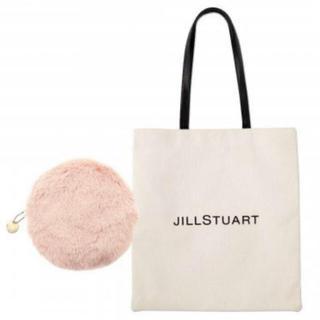ジルスチュアート(JILLSTUART)のJILLSTUART ロゴトート&ファーポーチ(トートバッグ)