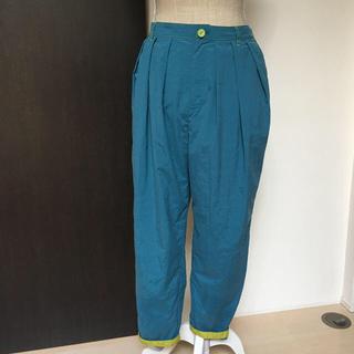 ホコモモラ(Jocomomola)のびぃ様専用 ホコモモラ jocomomola サイズ40 パンツ 青緑 個性的♡(カジュアルパンツ)