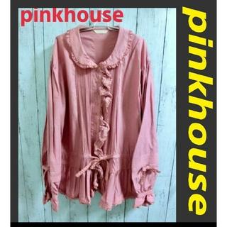 ピンクハウス(PINK HOUSE)の美品!PINKHOUSE ピンクハウス ミニワンピ ブラウス pinkhouse(ミニワンピース)