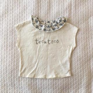 花柄 襟付き Tシャツ 100 キッズ 子供服 半袖 韓国服風(Tシャツ/カットソー)