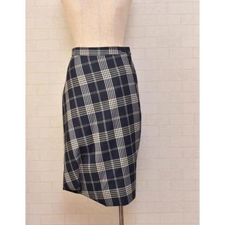 ヴィヴィアンウエストウッド(Vivienne Westwood)のVivienne Westwood チェック 変形スカート 40(ひざ丈スカート)