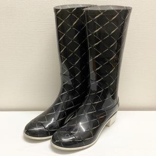 シャネル(CHANEL)のCHANEL レインブーツ マトラッセ  長靴 ココマーク シャネル(レインブーツ/長靴)