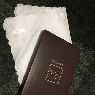 ミツコシ(三越)のお値下げ⭐️上品 ☆ sophisty ホワイト ハンカチーフ(ハンカチ)
