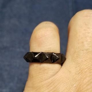 クロムハーツ(Chrome Hearts)の大幅値下げ スタッズ リング ブラック 渋い 18号(リング(指輪))
