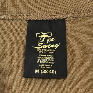 ヘインズ(Hanes)のデッドストック! 80's Tee Swing 無地T USA製 M カーキ(Tシャツ/カットソー(半袖/袖なし))