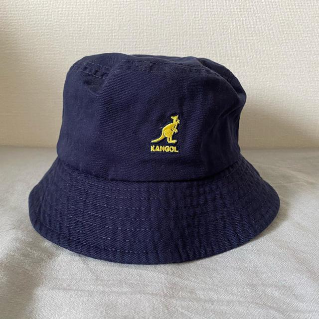 KANGOL(カンゴール)の【完全未使用】KANGOL バケットハット ネイビー Lサイズ メンズの帽子(ハット)の商品写真