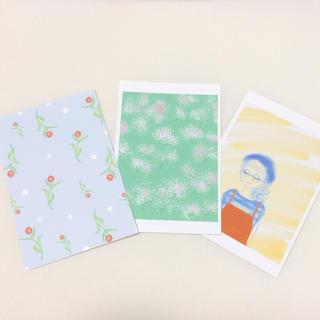 かすみ草 花 自然 韓国風 かわいい 人気 ガーベラ ハガキ ポストカード(カード/レター/ラッピング)