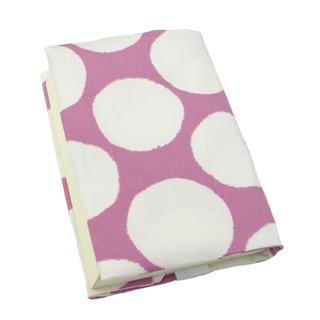 ハンドメイド ブックカバー(文庫本サイズ) 北欧調 ラウンド柄 ピンク(ブックカバー)