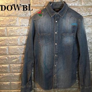 ダブル(DOWBL)の【美品】DOWBL ダブル 刺繍入り 長袖シャツ シャンブレー 42 コットン(シャツ)