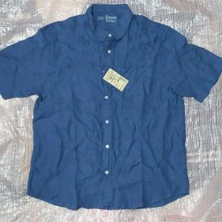 ムジルシリョウヒン(MUJI (無印良品))の無印良品 フレンチリネン 洗いざらし 半袖シャツ XL(シャツ)