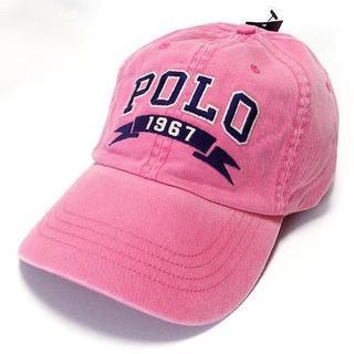 ポロラルフローレン(POLO RALPH LAUREN)のラルフローレン ロゴ刺繍 ヴィンテージキャップ ピンク(大人用)(140)(キャップ)