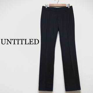 UNTITLED - UNTITLED オフィス 仕事で使える パンツ スーツ 黒 ブラック S