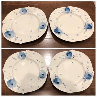 マイセン(MEISSEN)のマイセン 青い花 28cm  ディナープレート 大皿 2枚(食器)