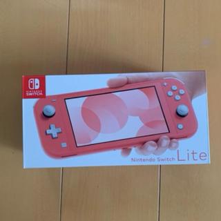 ニンテンドースイッチ(Nintendo Switch)のNintendo Switch 任天堂スイッチ Lite コーラル 新品未使用(携帯用ゲーム機本体)