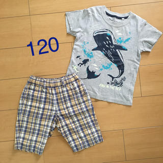 UNIQLO - ハーフパンツ  Tシャツ セット  120