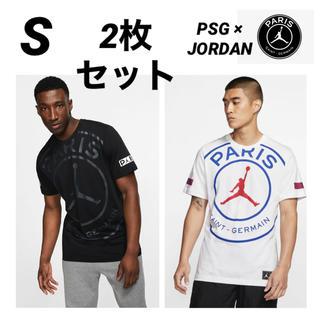 ナイキ(NIKE)のPSG JORDAN 半袖Tシャツ 2枚セット Sサイズ(Tシャツ/カットソー(半袖/袖なし))
