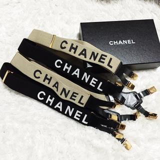 シャネル(CHANEL)の【値下げ】CHANEL シャネル サスペンダー ブラック 美品(サスペンダー)