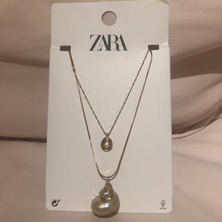 ザラ(ZARA)のzara ネックレス シェル 新品(ネックレス)