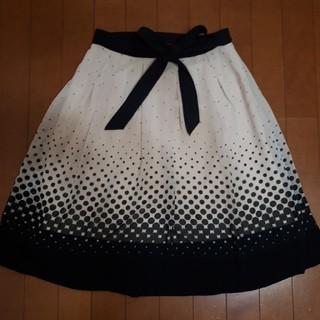 トゥービーシック(TO BE CHIC)のTO BE CHIC リボン付きドットシフォンスカート(ひざ丈スカート)