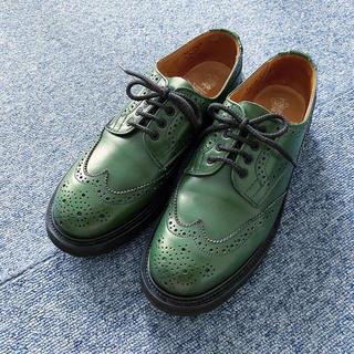 トリッカーズ(Trickers)のTricker's★緑色のレースアップシューズ★L5633★5h(ローファー/革靴)