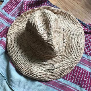 キウ(KiU)のused 天然草 編み帽子(麦わら帽子/ストローハット)