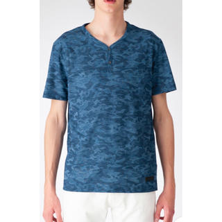ブラックレーベルクレストブリッジ(BLACK LABEL CRESTBRIDGE)の《新品》ブラックレーベルクレストブリッジ  メランジカモフラヘンリーネックT(Tシャツ/カットソー(半袖/袖なし))