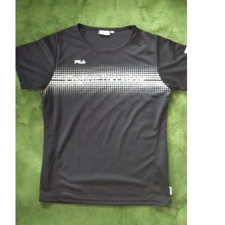 フィラ(FILA)の8/17で終了! レディースTシャツ Mサイズ 黒(ウェア)