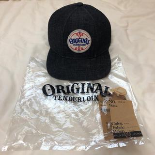 テンダーロイン(TENDERLOIN)の即決値下!TENDERLOIN トラッカー キャップ デニム 帽子 ブラック 黒(キャップ)
