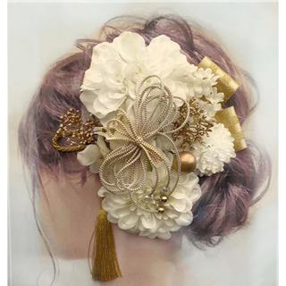 愛らしい髪かざり 袴 卒業式 結婚式 成人式 髪飾りはかまにかみかざり(ヘッドドレス/ドレス)