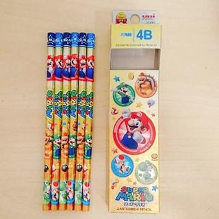 ミツビシエンピツ(三菱鉛筆)のめっちーさん専用☆4B☆マリオ☆uni☆鉛筆☆6本セット(鉛筆)