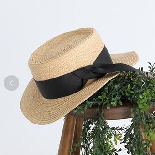 スタディオクリップ(STUDIO CLIP)の*新品未使用*ラフィアカンカン帽(麦わら帽子/ストローハット)