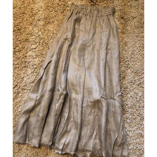 ミラオーウェン(Mila Owen)のミラオーウェン  リネンマキシスカート b14(ロングスカート)