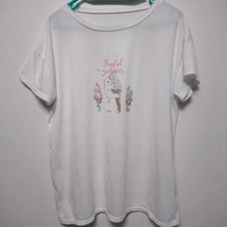 チュチュアンナ(tutuanna)のTシャツ クマ 熊 白 ホワイト レディース(Tシャツ(半袖/袖なし))