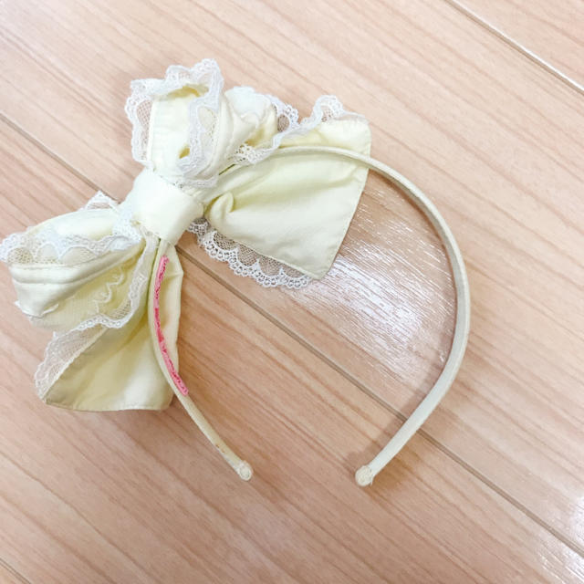 Angelic Pretty(アンジェリックプリティー)のAngelic Pretty リボンカチューシャ レディースのヘアアクセサリー(カチューシャ)の商品写真