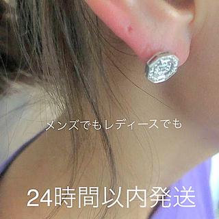アヴァランチ(AVALANCHE)のAVALANCHE  ダイヤモンド ホワイトゴールド ピアス(ピアス(片耳用))