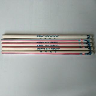 ジャル(ニホンコウクウ)(JAL(日本航空))の日本航空 鉛筆 5本 コレクターズアイテム(ノベルティグッズ)