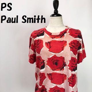 ポールスミス(Paul Smith)の【人気】PS Paul Smith バラ総柄 半袖シャツ サイズXL レディース(Tシャツ(半袖/袖なし))