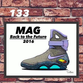 mag Back to the Futureコミックシューズ ポスター額付き (その他)