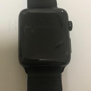 アップルウォッチ(Apple Watch)のApple Watch Series 2 42mm ステンレス ブラックDLC(腕時計(デジタル))