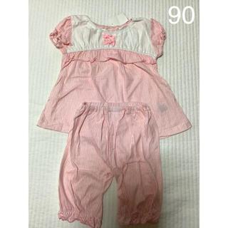 プティマイン(petit main)の新品☆バースデイ 女の子 半袖パジャマ  90(パジャマ)