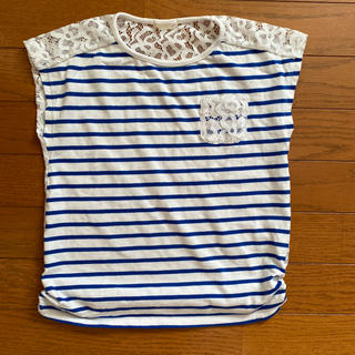 GU - GU 女児バックレースTシャツ 120