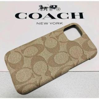 コーチ(COACH)のコーチ iPhone11proMaxケース シグネチャー ライトカーキ(iPhoneケース)