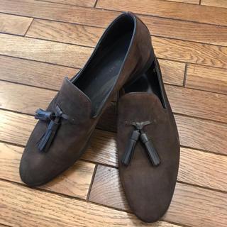 ザラ(ZARA)のZARAザラ タッセルローファーブラウン41 スウェード(ローファー/革靴)