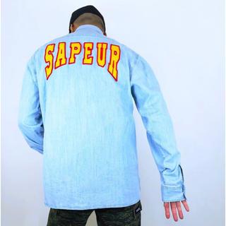 シュプリーム(Supreme)のSAPEur サプール デニムシャツ(Tシャツ(長袖/七分))