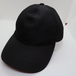 PRADA - PRADA プラダ 帽子 CAP ブラック 未使用 M 箱付き ナイロン 正規品