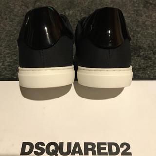 ディースクエアード(DSQUARED2)の【新品】DSQUARED2(ディースクエアード) ブラック 41 イタリア製(スニーカー)